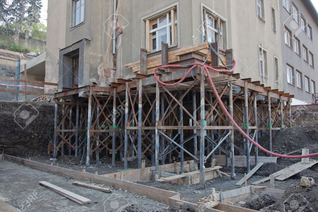 14958309-Reconstruction-of-the-building-and-making-new-foundation-Stock-Photo